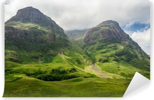 Mountain view in Scotland in the Glencoe Self-Adhesive Wall Mural