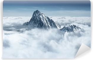Mountains in the clouds Self-Adhesive Wall Mural
