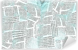 newspaper wallpaper Self-Adhesive Wall Mural