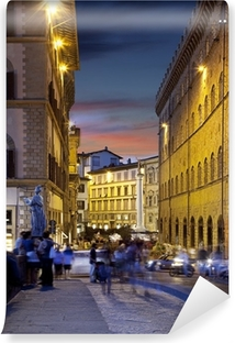 Night streets of Florence, Italy Self-Adhesive Wall Mural