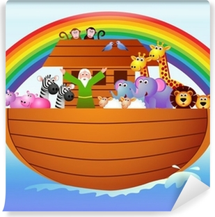 Noah's Ark Self-Adhesive Wall Mural