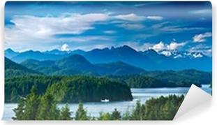 Panoramic view of Tofino, Vancouver Island, Canada Self-Adhesive Wall Mural