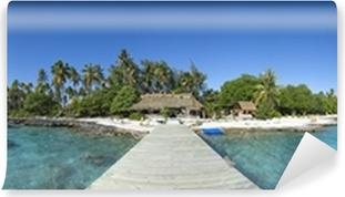 Paradise island panoramic view Self-Adhesive Wall Mural