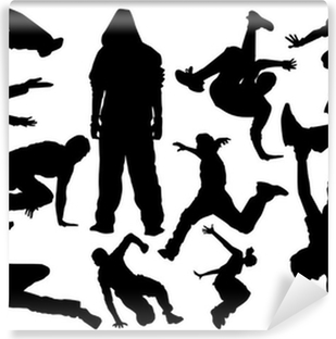 parkour vector Self-Adhesive Wall Mural