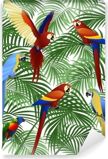 Parrot bird Self-Adhesive Wall Mural