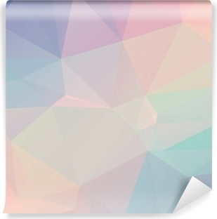 Pastel Polygon Geometric Self-Adhesive Wall Mural