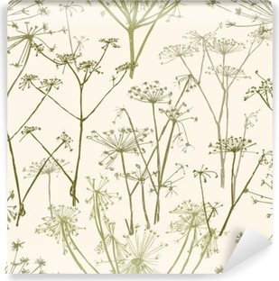 pattern of the umbrella flowers Self-Adhesive Wall Mural