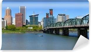 Portland Oregon skyline panorama. Self-Adhesive Wall Mural