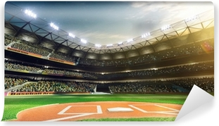 Professional baseball grand arena in sunlight Self-Adhesive Wall Mural