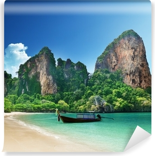 Railay beach in Krabi Thailand Self-Adhesive Wall Mural