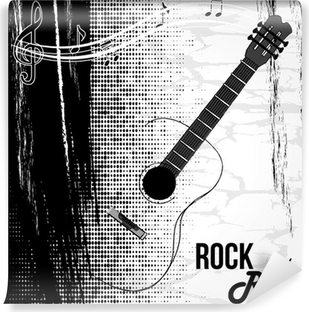 rock and roll design Self-Adhesive Wall Mural