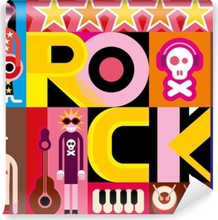 Rock and Roll Self-Adhesive Wall Mural
