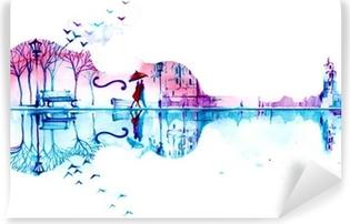 romantic plot Self-Adhesive Wall Mural