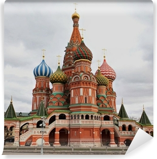 Saint Basil's Cathedral, Moscow, Russia. Self-Adhesive Wall Mural