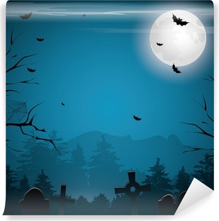 Scary Halloween background Self-Adhesive Wall Mural