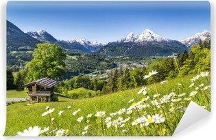 Scenic landscape in the Bavarian Alps Self-Adhesive Wall Mural