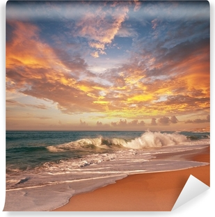 Sea sunset Self-Adhesive Wall Mural