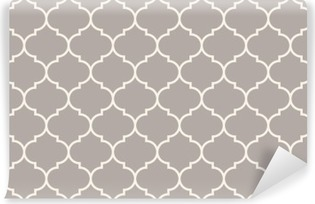 Seamless anthracite gray wide moroccan pattern vector Self-Adhesive Wall Mural
