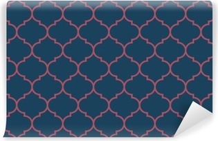 Seamless dark blue and burgundy wide moroccan pattern vector Self-Adhesive Wall Mural