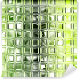 Seamless green glass tiles texture background, kitchen or bathro Self-Adhesive Wall Mural