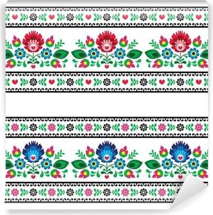 Seamless Polish folk pattern with flowers Self-Adhesive Wall Mural