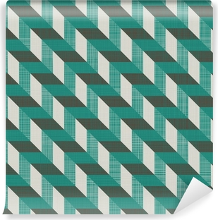 seamless retro pattern with diagonal lines Self-Adhesive Wall Mural