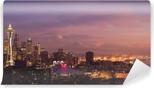 Seattle city skyline Self-Adhesive Wall Mural