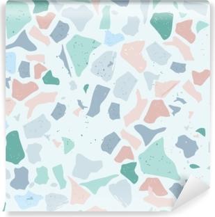 Set of Beautiful Terrazzo Seamless Pattern : Vector Illustration Self-Adhesive Wall Mural