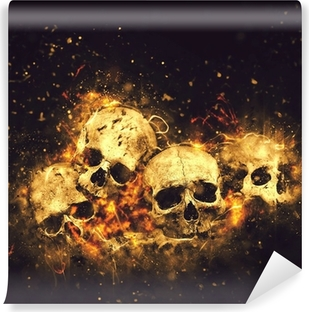 Skulls and Bones Self-Adhesive Wall Mural