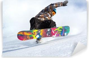 snowboard evolution Self-Adhesive Wall Mural