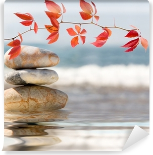 SPA still life on nature Self-Adhesive Wall Mural