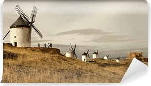 spanish windmills - Consuegra Self-Adhesive Wall Mural