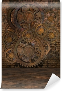 Steampunk Background Self-Adhesive Wall Mural