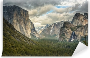 Stormy Clouds in Yosemite park Self-Adhesive Wall Mural