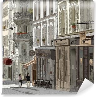 Street in Montmartre Self-Adhesive Wall Mural