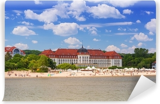 Summer on the beach of Baltic Sea in Sopot, Poland Self-Adhesive Wall Mural