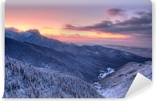Sunset over the Tatra Mountains Self-Adhesive Wall Mural