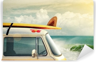 Surfing Way of Life Self-Adhesive Wall Mural