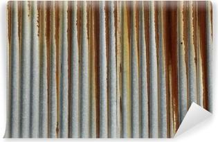texture métal, tôle ondulée rouillée Self-Adhesive Wall Mural