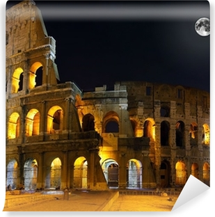 The Colosseum, Rome. Night view Self-Adhesive Wall Mural