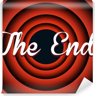 The end typography Self-Adhesive Wall Mural
