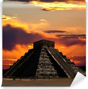 The temples of chichen itza temple in Mexico Self-Adhesive Wall Mural
