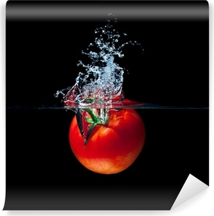 tomato splash Self-Adhesive Wall Mural