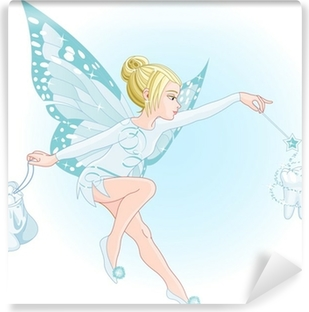 Tooth fairy with magic wand Self-Adhesive Wall Mural