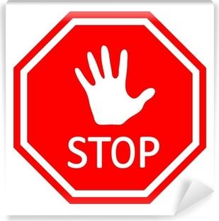 Traffic stop sign - Vector EPS10 Self-Adhesive Wall Mural