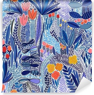 Tropical seamless floral pattern Self-Adhesive Wall Mural