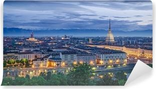 Turin panorama at twilight Self-Adhesive Wall Mural