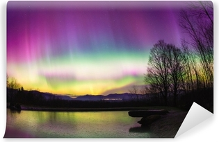 Uncommon Aurora Borealis in Vermont. Self-Adhesive Wall Mural