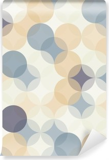 Vector modern seamless colorful geometry pattern circles , color abstract geometric background,wallpaper print, retro texture, hipster fashion design, Self-Adhesive Wall Mural