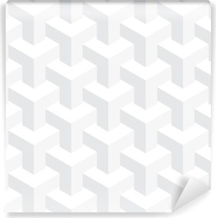 Vector unreal texture, abstract design, illusion construction, white background Self-Adhesive Wall Mural